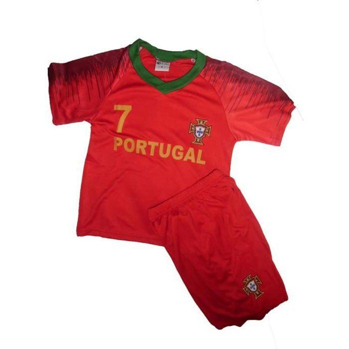 MAILLOT DE FOOT + SHORT PORTUGAL 12 ANS