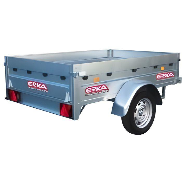 Bâche pour remorque Erka modèle NFB 170 - Dimensions bâche : 171cm x 125cm x 12cm - Coloris Gris