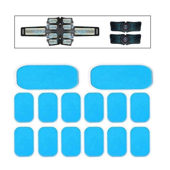 14 pièces coussinets de Gel pour EMS formateur abdominaux Gel autocollants stimulateur musculaire exercice - HSJSZHA10281
