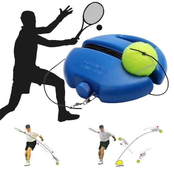 TEMPSA Tennis Ball Singles formation Balles de base Retour Outils Trainer et Tennis pratique d'entraînement