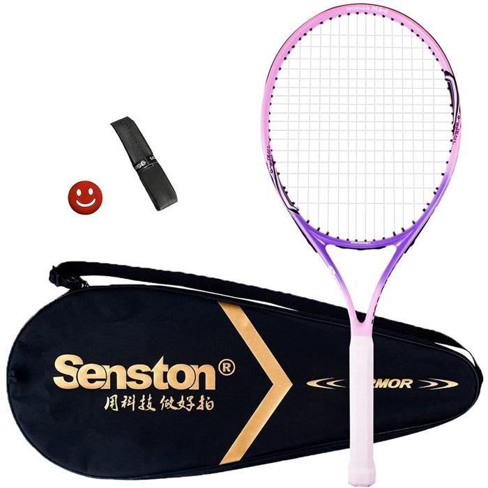 Senston Raquette de Tennis 19-23-25, Raquettes Tennis avec Sac de Tennis Surgrip Amortisseur de Vibrations11