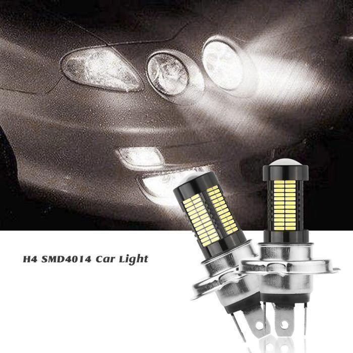 2Pcs Ampoule LED de Phare H4 40W Phare de voiture Éclairage de la voiture 10000LM 6500K a722
