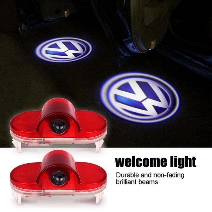 2pcs LED porte de voiture de lumière de bienvenue lampe de projecteur pour Volkswagen VW Golf MK4 Touran Caddy Bora Mon1224-9-29802
