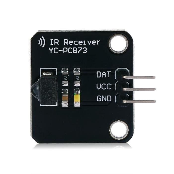 Module capteur infrarouge 38Khz pour Arduino (Noir)