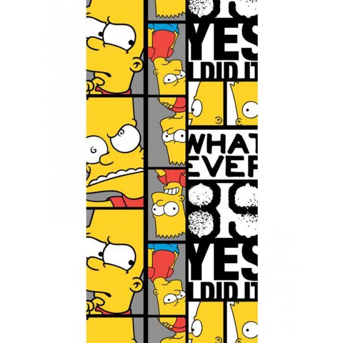 Bart Simpson Serviette de Plage 'Whatever'