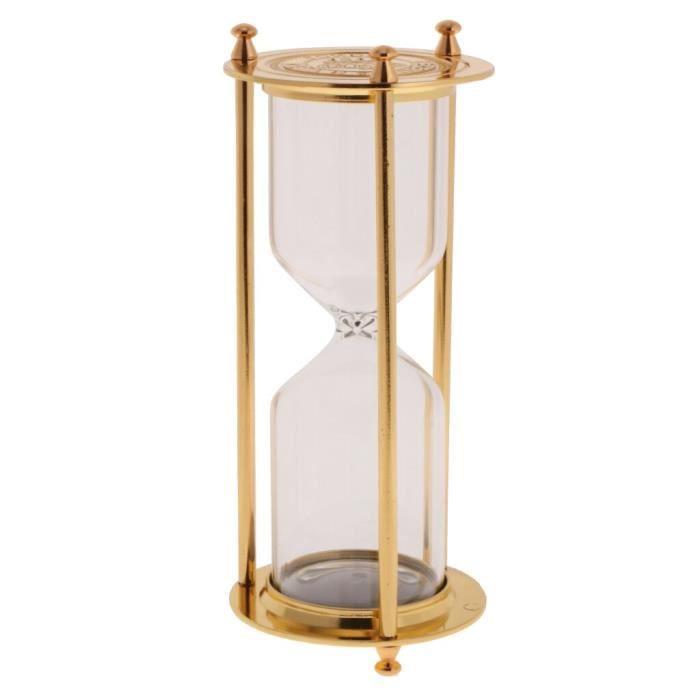 Minuteur,Sablier cadre métallique rétro vide Sablier vide, sablier décor de la maison - Type Bronze S