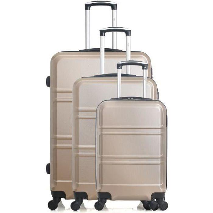 Set de 3 valises UTAH beige