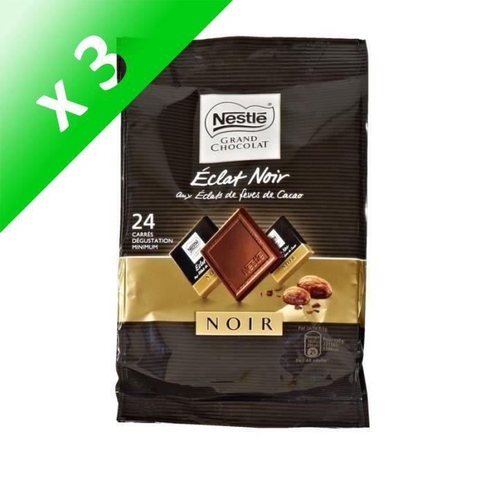 [LOT DE 3] NESTLE Mini chocolat Eclat Noir aux éclats de fèves de cacao - 192 g