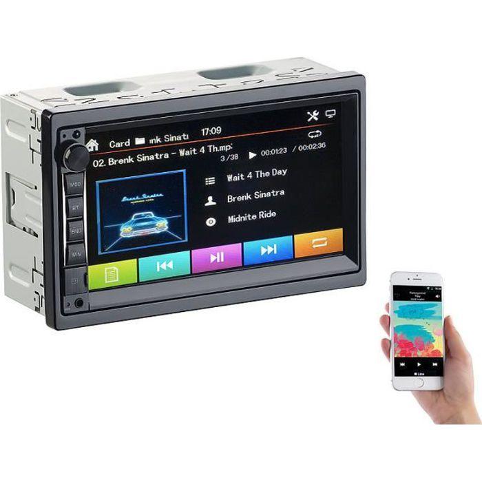 Autoradio 2 DIN tactile avec fonctions lecteur MP3 / bluetooth / mains libres CAS-4445.bt V2