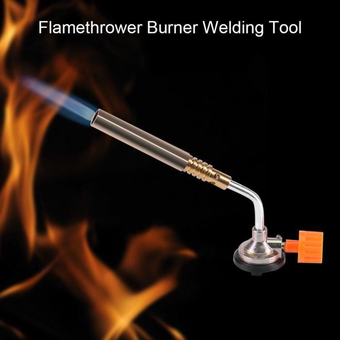 Chalumeau en acier inoxydable, torche à gaz, brasage au gaz butane Camping pour la cuisson à souder-XNA