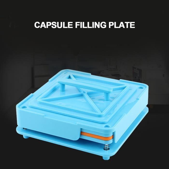 Trous Capsules Outil De Remplissage Vide Capsule Plaques Capsule Machine De Remplissage (1 #bleu) HB011 -JUN-JUN