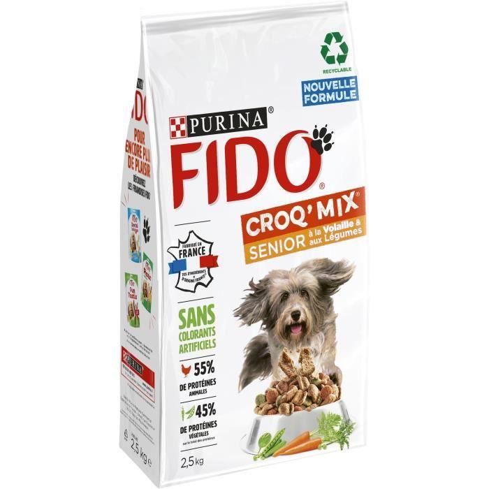 FIDO Crox'Mix Volaille, Légumes - Pour chien - 2,5 kg
