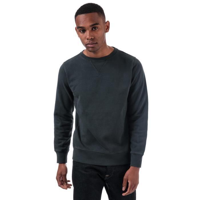 Replay Sweatshirt Compact Coton Bleu Marine Homme
