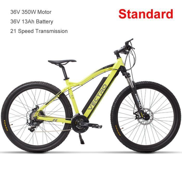 Vélo électrique de haute qualité de 29 pouces, vélo de montagne, batterie au lithium dissimulée, assistance de 5 pédales, fourche à
