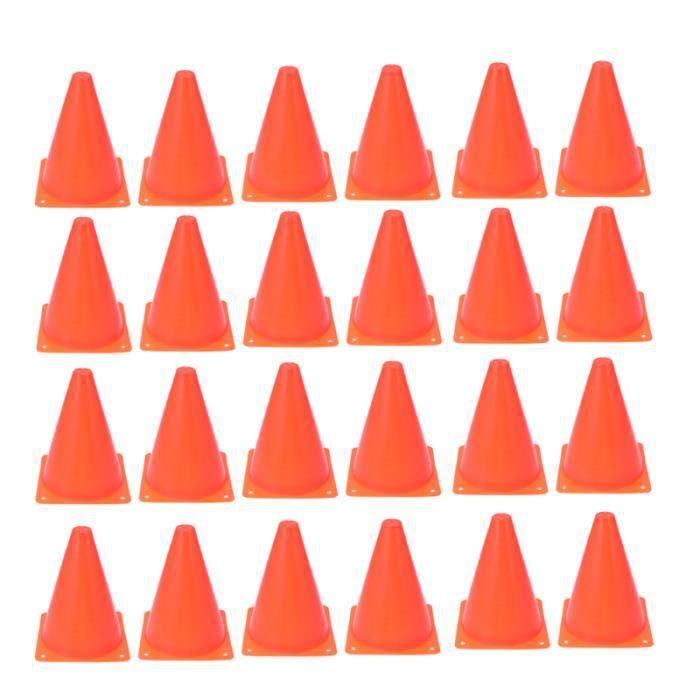 24 Pcs 18CM Entraînement De Football Roadblock Cone En Forme Formation Auxiliaire Outils Matériel Sport ROLLER IN LINE