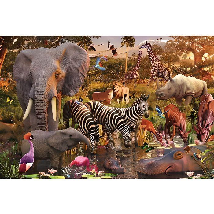 Puzzle 3000 pièces - Animaux du continent africain