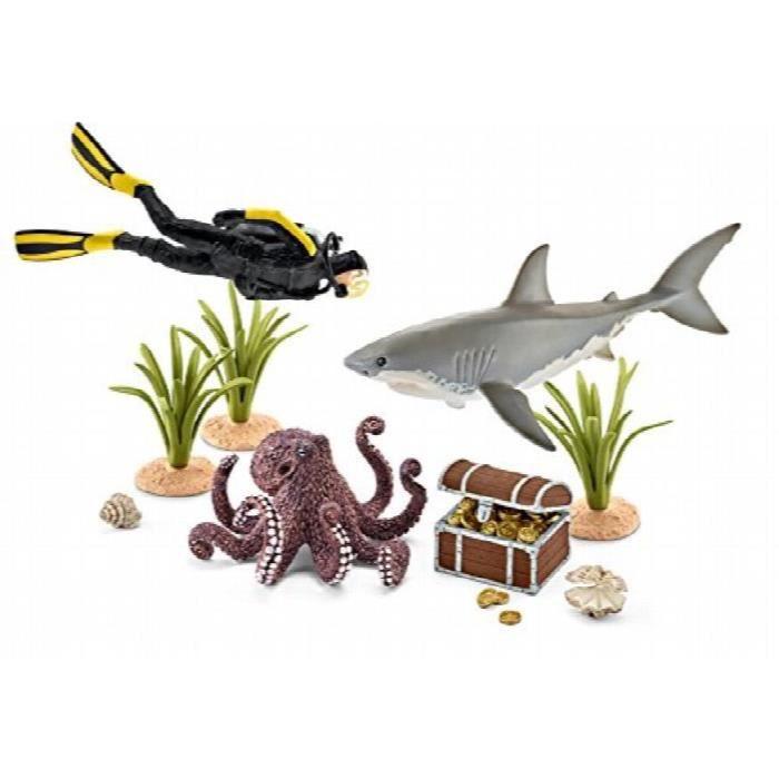 Schleich 42329 - Figurine - Plongeur à La Recherche D'un Trésor BKDPP