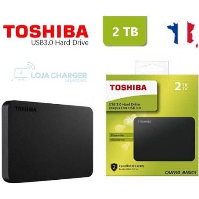 Disque dur externe toshiba canvio basic HDTB420EK3AA pouces 2 to 2.5'' usb 3.0 Origine noir 2000 Go 2Tb HDTB320EK3CA + 1 Clé Sandisk
