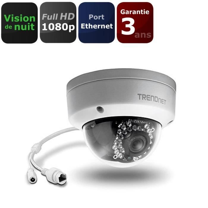 TRENDNET TVIP 311PI Caméra IP Dôme 3MP IP66