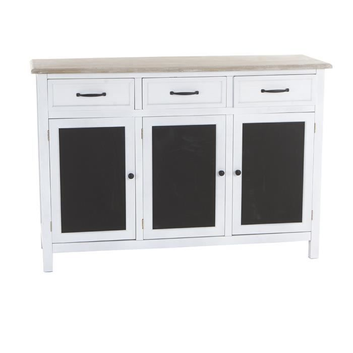 buffet 3 portes damian b w achat vente buffet bahut buffet 3 portes damian b w cdiscount. Black Bedroom Furniture Sets. Home Design Ideas