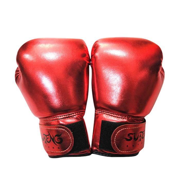 JIFNCR Gants de Boxe pour Enfants Enfants Gants de Boxe Formation Sparring Punch Bag Mitt for 3 to 12 Years Traing Gloves Training Equipment,Rouge