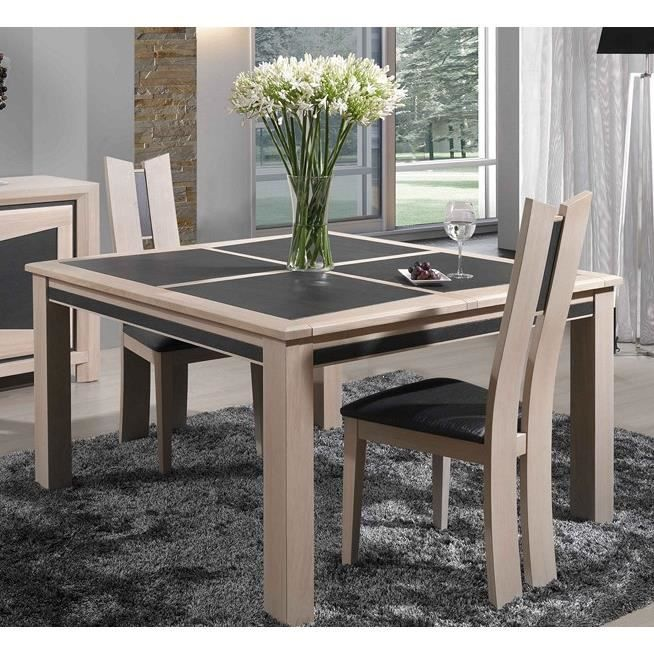 table carr e ch ne 39 apollon 39 134cm achat vente table manger table carr e ch ne 39 apollon. Black Bedroom Furniture Sets. Home Design Ideas