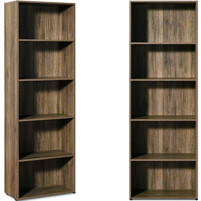 etageres biblioth que brun contreplaqu 192cm achat. Black Bedroom Furniture Sets. Home Design Ideas