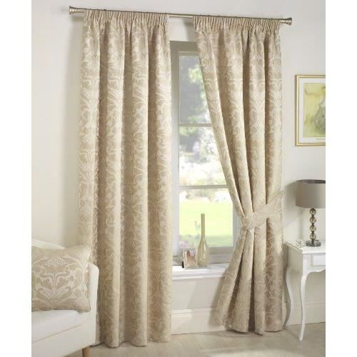 dreams 39 n 39 drapes crompton rideaux doubl s beige 46x90 cm achat vente rideau cdiscount. Black Bedroom Furniture Sets. Home Design Ideas