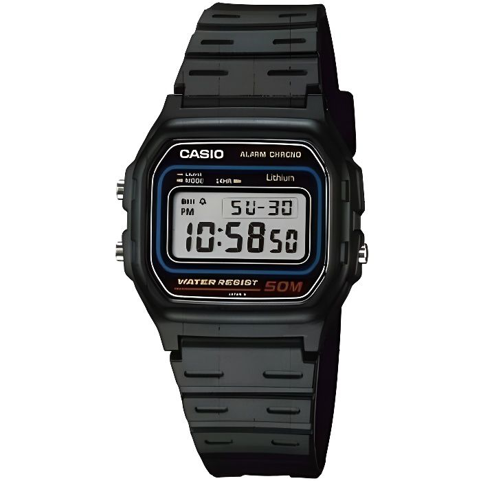 montre casio vintage w 59 1vqes achat vente montre soldes d t cdiscount. Black Bedroom Furniture Sets. Home Design Ideas