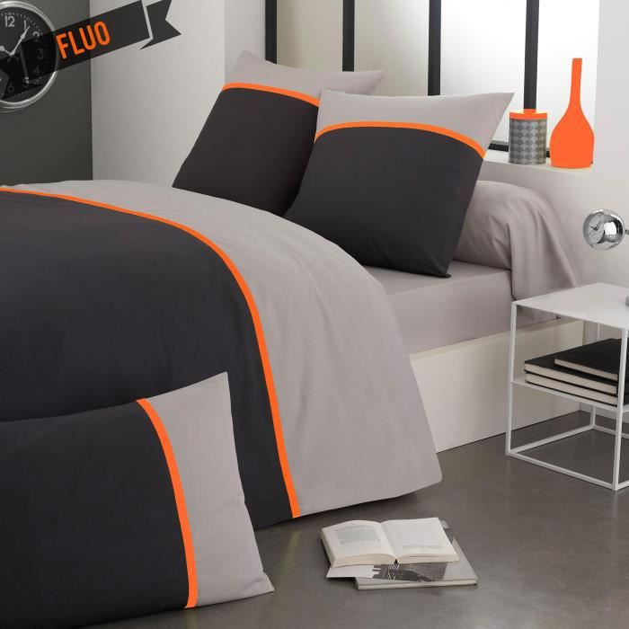 parure de lit orange awesome parure de lit enfant zoo with parure de lit orange maison parure. Black Bedroom Furniture Sets. Home Design Ideas