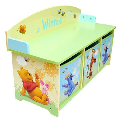 banc avec rangement winnie l 39 ourson achat vente coffre jouets cdiscount. Black Bedroom Furniture Sets. Home Design Ideas