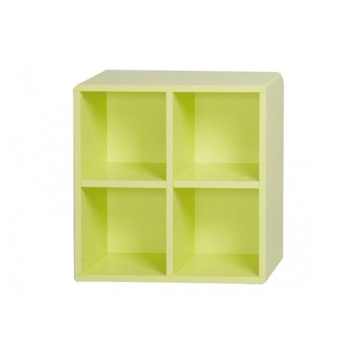 Cube de rangement 4 cases vert id 39 clik achat vente for Meuble 4 cases but