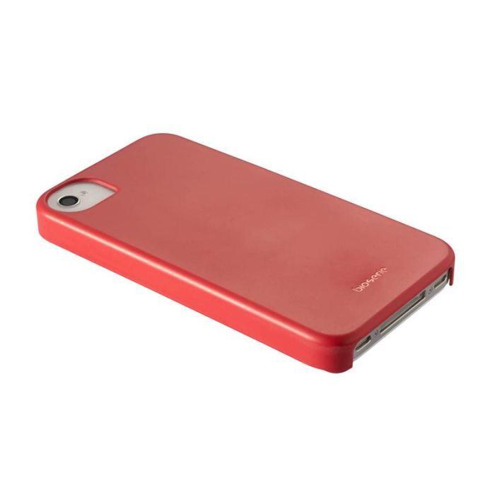 Coque iPhone 4 arrière bio rouge iphone 4/4s