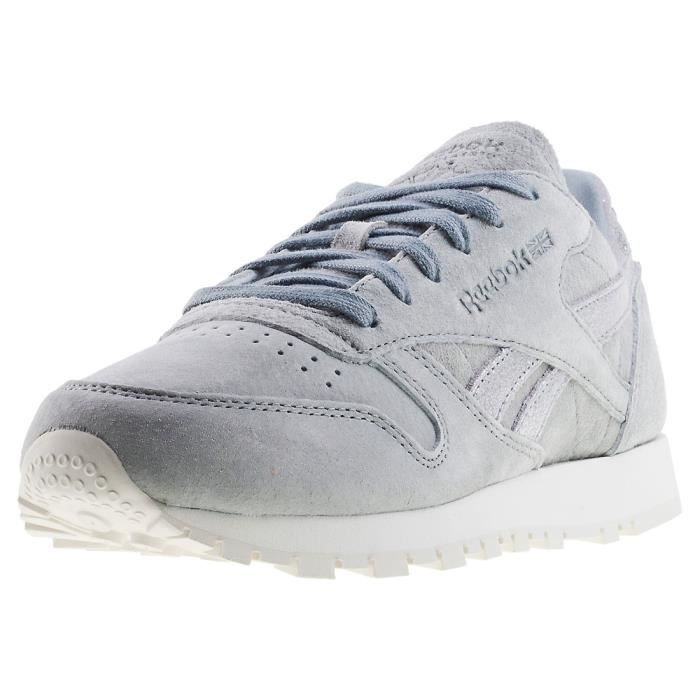 a6b4a99857b5e Reebok Classic Leather Shimmer Femmes Baskets Argent gris - 7 UK ...