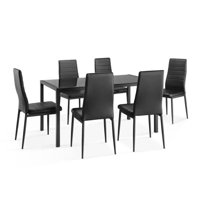 Ensemble repas 1 table 6 chaises swithome elo achat vente table mang - Cdiscount table chaise ...