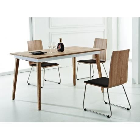 Table extensible woods 6 8 couverts mdf et m tal for Table extensible 6 a 12 couverts