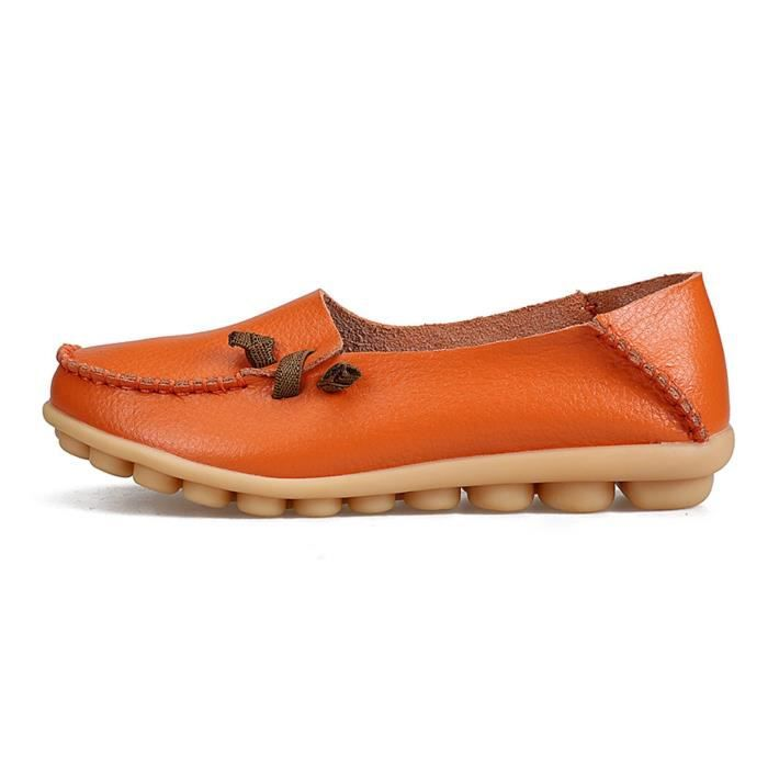 Comfort Walking Cute Flat Loafer YF72Q Taille-37