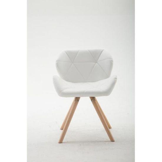 ergonomique dossier FAL10037 visiteur et Chaise polyuréthane bois blanc lounge 0OPkwn8