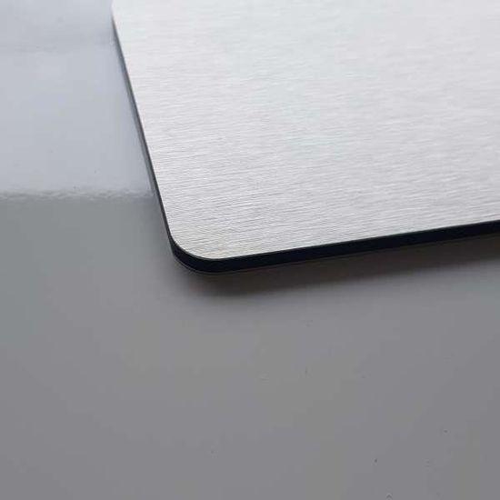 Largeur 50 cm Hauteur 40 cm x AluCouleur Cr/édence Composite Aspect INOX Bross/é 11 Tailles