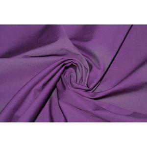 TISSU Tissu Popeline Unie 100%Coton Violet -Au Mètre