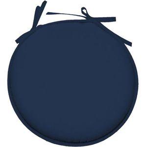 COUSSIN DE CHAISE  Galette de chaise Bleu Petrole ronde en polyester