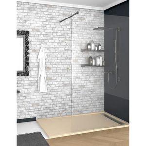 Receveur de douche plat 100 x 90 cm // /épaisseur 50 mm BuyLando bac /à douche blanc acrilique salle de bain.