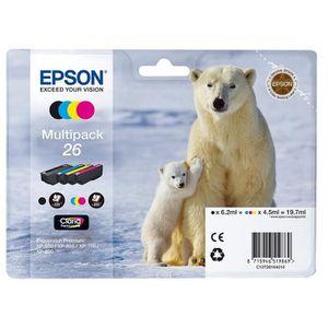CARTOUCHE IMPRIMANTE Encre d'origine EPSON Multipack Ours polaire T2616