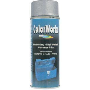 PEINTURE - VERNIS Peinture effet martelé Colorworks - Argent