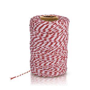 FICELLE DE CUISSON Ficelle à Cuisine Bicolore Rouge et Blanc 100% Cot
