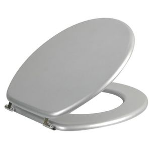 ABATTANT WC Abattant WC Morea gris métallisé en MDF
