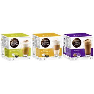 CAFÉ Nescafé Dolce Gusto Capsules Cappuccino + Latte Ma