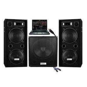 PACK SONO PACK SONO DJ 2800W CUBE 1512 avec CAISSON Amplifié