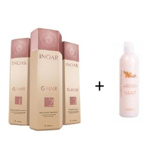 DÉFRISAGE - LISSAGE LISSAGE BRESILIEN G HAIR 3X1 L + CONDITIONNER HAIR