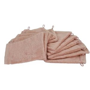 Alpes Blanc Lot de 4 Gants de Toilette 20x15 Marron